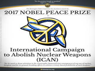 Нобелевская премия - у Международного движения по запрещению ядерного оружия
